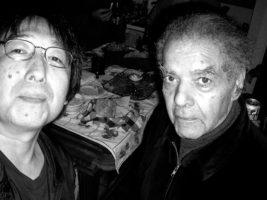 筆者とジョージ・ラッセル(2008年)