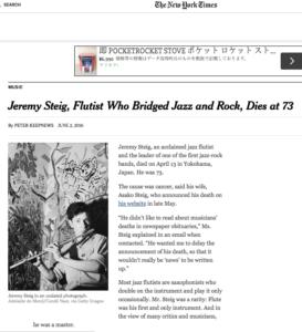 Jeremy SteigNYTimes