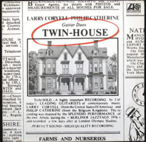 Larry Coryell & Phlip Catherine: Twin-House