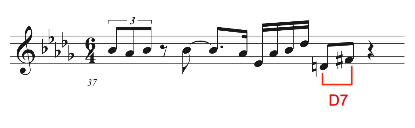 Coltrane solo 37小節目