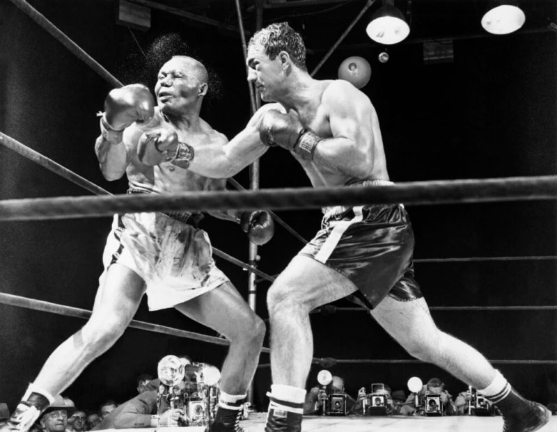 Jersey Joe Walcott vs Rocky Marciano (photo: Pinterest)