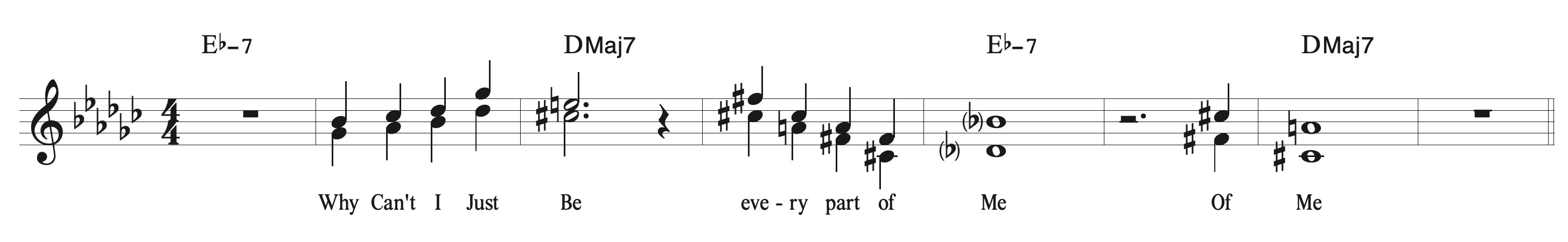 Every Part Of Me: Chorus